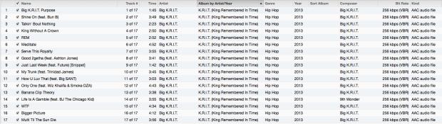 KRIT Tracklist