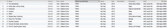 PRAY Tracklist