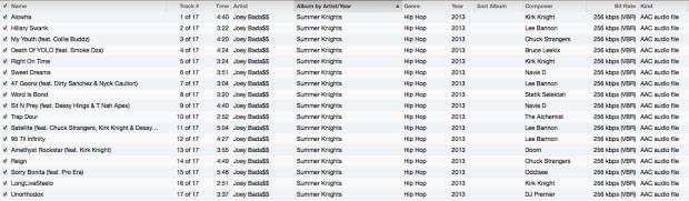 Summer Knights Tracklist