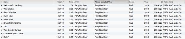 PartyNextDoor Tracklist