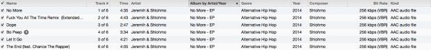 No More EP Tracklist